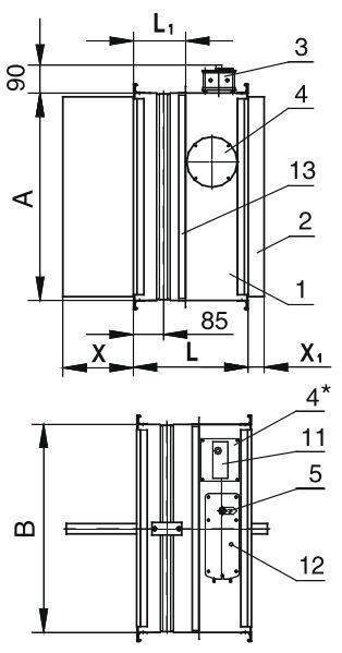 Клапан АЗЕН-2 90` 200*450 ЭМ-220В НО